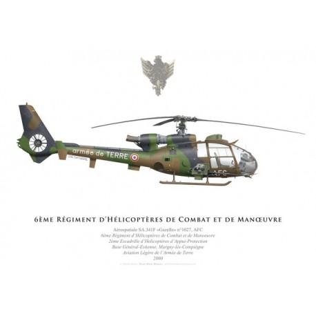 Aérospatiale SA.341F Gazelle, 6ème Régiment d'Hélicoptères de Combat, Compiègne, 2000