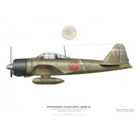 Mitsubishi A6M2 21, PO2C Yoshisuke Arita, Tainan Kokutai, Denpasar, February 1942
