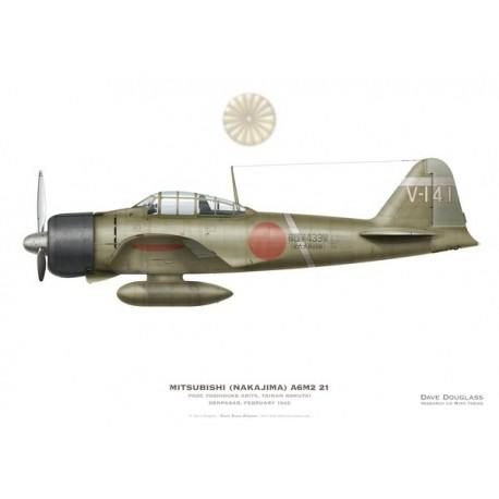Mitsubishi A6M2 21, PO2C Yoshisuke Arita, Kokutai de Tainan, Denpasar, février 1942.