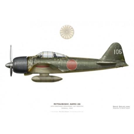 Mitshubishi A6M3 22 Zero, CPO Hiroyoshi Nishizawa, 251 Kokutai, Rabaul, 1943