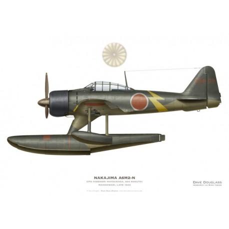 Nakajima A6M2-N Rufe, CPO Hidenori Matsunaga, Kokutai 934, Manokwari, fin 1943