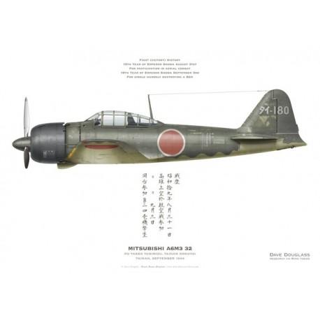 Mitsubishi A6M3 32 Zero, PO Takeo Tanimizu, Tainan Kokutai, Tainan, September 1944.