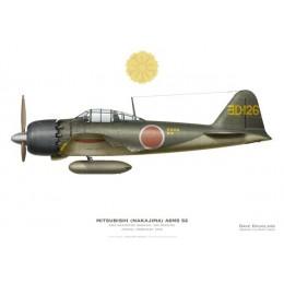 Mitsubishi (Nakajima) A6M5 52 Zero, ENS Akamatsu Sadaaki, 302 Kokutai, Atsugi, February 1945.
