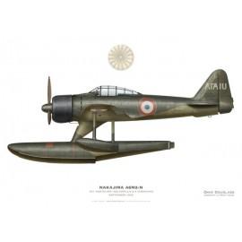 Nakajima A6M2-N Rufe, EV1 Hostalier, Escadrille 8.S, Aéronavale, Indochine, septembre 1946