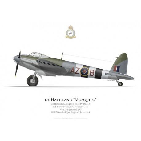 Mosquito B. Mk IV, F/L Steere, F/O Gale, No 627 Squadron, Royal Air Force, Woodhall Spa, 1944