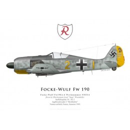 Focke-Wulf Fw 190A-6, Oblt. Josef Wurmheller, 9./JG 2