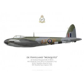 Mosquito B Mk 25, W/C G. Curry & F/L K. Tice, No 627 Squadron, Royal Air Force, 1944