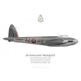 Mosquito B Mk IV, F/L Kearns & F/O Barclay, No 627 Squadron, Royal Air Force, Woodhall Spa, 1944