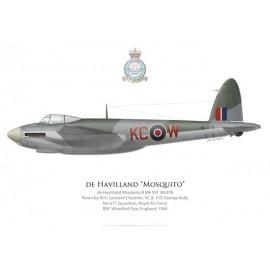 Mosquito B Mk XVI, W/C Leonard Cheshire VC & F/O George Kelly, No 617 Squadron, Royal Air Force, Woodhall Spa, 1944