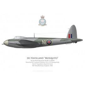 Mosquito FB Mk VI, W/C Leonard Cheshire VC & F/O George Kelly, No 617 Squadron, Royal Air Force, Woodhall Spa, 1944