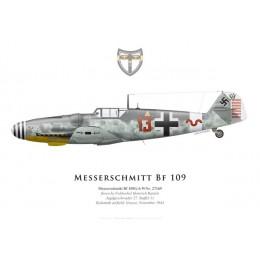 Bf 109G-6, Fw. Heinrich Bartels, 11./JG 27