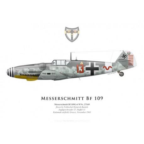 Messerschmitt Bf 109G-6, Fw. Heinrich Bartels, 11./JG 27