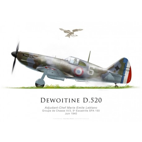 Dewoitine D.520, A/C Marie Emile Leblanc, GC III/3, SPA 150, juin 1940