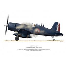 AU-1 Corsair, Flottille 14.F, Bach-Maï, Indochine, 1954