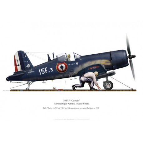 F4U-7 Corsair, Flottille 15.F, French Navy, La Fayette aircraft carrier, 1955