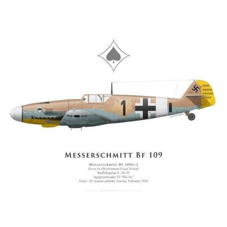 Messerschmitt Bf 109G-2, Oblt. Franz Schieß, JG 53