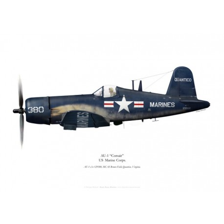 AU-1 Corsair, US Marine Corps, MCAS Brown Field, Quantico, Virginie