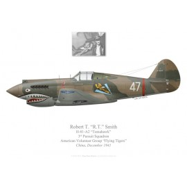 "H-81 Tomahawk, R.T. Smith, 3rd PS, American Volunteer Group ""Tigres Volants"", décembre 1941"