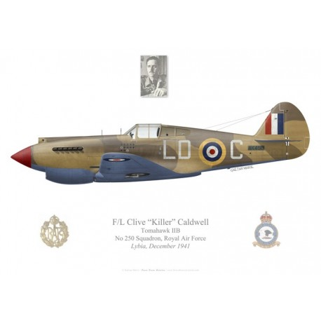 Tomahawk IIB, F/L Clive Caldwell, No 250 Squadron, Royal Air Force, Lybia, 1941