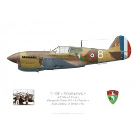 "P-40F Warhawk, GC II/5 ""La Fayette"", French Air Force, Tunisia, 1943"