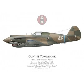 "H-81 Tomahawk, ""Tex"" Hill, 2nd PS, American Volunteer Group ""Tigres Volants"", décembre 1941"