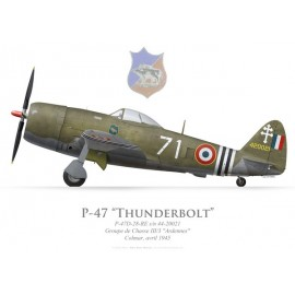 """P-47D Thunderbolt, Groupe de Chasse III/3 """"Ardennes"""", French Air Force1945"""