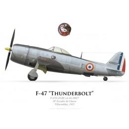 F-47D Thunderbolt, 10e Escadre de Chasse, Villacoublay, 1952