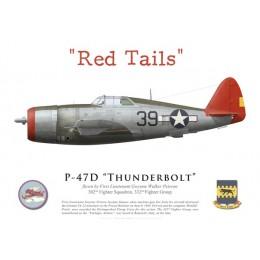 "P-47D Thunderbolt, 1LT Gwynne Peirson, 302nd FS, 332nd FG ""Tuskegee Airmen"", Italy, 1944"