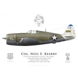 "P-47D Thunderbolt ""Fiery Ginger"", Col. Neel Kearby, CO 348th FG, New Guinea, 1943"