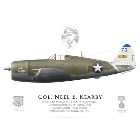 "P-47D Thunderbolt ""Fiery Ginger"", Col. Neel Kearby, CO 348th FG, Nouvelle-Guinée, 1943"
