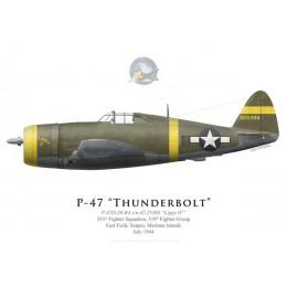 "P-47D Thunderbolt ""Lippy IV"", 333rd FS, 318th FG, Saïpan, 1944"
