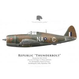 Thunderbolt Mk I, F/O Edgar N. Wilson (RNZAF), No 146 Squadron, India, 1944
