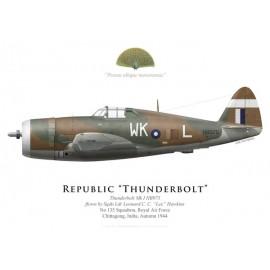 "Thunderbolt Mk I, S/L Leonard ""Lee"" Hawkins, No 135 Squadron, Royal Air Force, Inde, automne 1944"