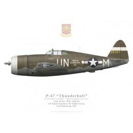 """P-47D Thunderbolt """"Spirit of Atlantic City, NJ"""", Capt. Walker """"Bud"""" Mahurin, 63rd FS, 56th FG"""