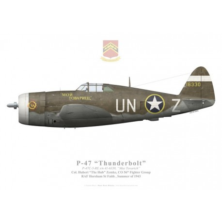 "P-47C Thunderbolt, ""Moy Tovarich"", Col. Hubert Zemke, 56th FG"