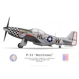 "P-51D Mustang ""Twilight Tear"", Lt. Hubert Davis, 83rd FS, 78nd FG"