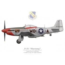 "P-51D Mustang ""Ridge Runner III"", Capt. Pierce McKennon, 335th FS, 4th FG"