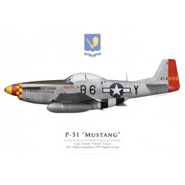 "P-51D Mustang ""Glamorous Glen III"", Capt. Charles ""Chuck"" Yeager, 363rd Fighter Squadron, 357th Fighter Group"