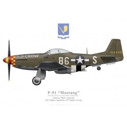 """P-51D Mustang """"Old Crow"""", Clarence """"Bud"""" Anderson, 363rd Fighter Squadron, 357th Fighter Group"""