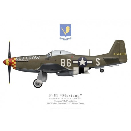 "P-51D Mustang ""Old Crow"", Clarence ""Bud"" Anderson, 363rd Fighter Squadron, 357th Fighter Group"
