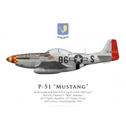 """P-51D Mustang """"Old Crow"""", Clarence """"Bud"""" Anderson, 363rd Fighter Squadron, 357th Fighter Group (late markings)"""