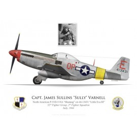 "P-51D Mustang ""Little Eva III"", Capt. James ""Sully"" Varnell, 52nd Fighter Group, 2nd Fighter Squadron, Italie, 1944"
