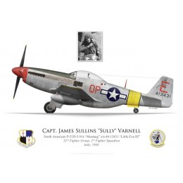 "P-51D Mustang ""Little Eva III"", Capt. James ""Sully"" Varnell, 52nd Fighter Group, 2nd Fighter Squadron, Italy, 1944"