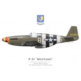 "P-51B Mustang ""Old Crow"", Capt. Clarence ""Bud"" Anderson, 363rd Fighter Squadron, 357th Fighter Group"
