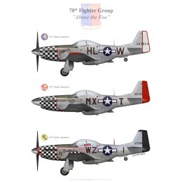 P-51 Mustang du 78th Fighter Group, US Army Air Forces