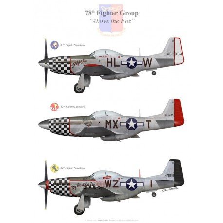 P-51D Mustangs of the 78th Fighter Group, US Army Air Forces