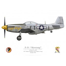 "P-51D Mustang ""Angels' Playmate"", Lt. Bruce Carr, 353rd Fighter Squadron, 354th Fighter Group"