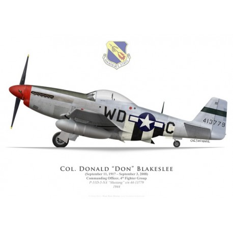 P-51D Mustang, Col. Don Blakeslee, 4th Fighter Group, 1944