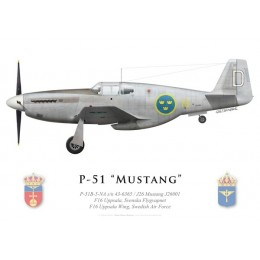 P-51B Mustang, Wing F16, Flygvapnet (Armée de l'air suédoise), Uppsala