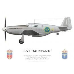P-51B Mustang, Wing F16, Flygvapnet (Swedish Air Force), Uppsala